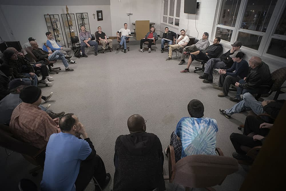 recovery meeting circle